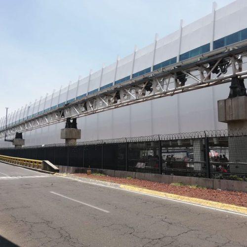 """Sellado de juntas en Fachada Sur del Nuevo Edificio """"Dedo L"""" Terminal 2 del AICM"""